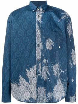 Etudes рубашка с узором и выбеленным эффектом E16M313BL