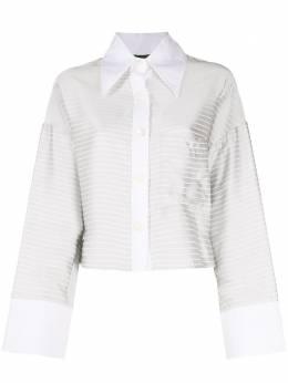Jejia укороченная рубашка в горизонтальную полоску E6205010