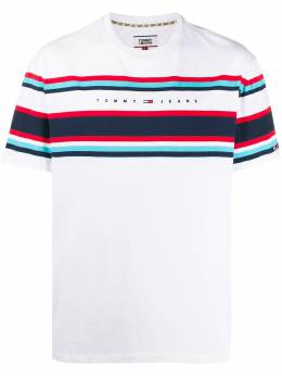 Tommy Jeans полосатая футболка с логотипом DM0DM09759