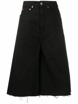 Mm6 Maison Margiela джинсовая юбка с необработанными краями S62MU0027S30653