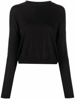 Marni свитер с приспущенными плечами и контрастной отделкой GCMD0186Q0FX203