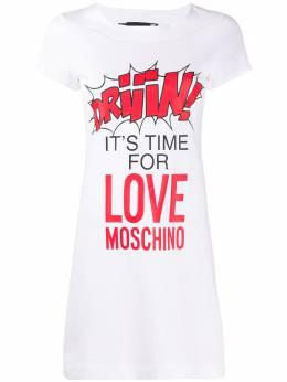 Love Moschino платье-футболка мини W592910M3876