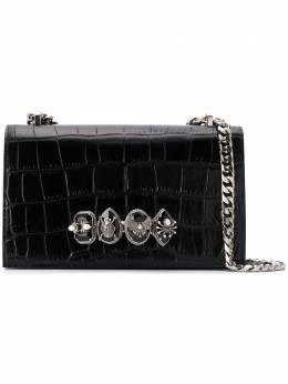 Alexander McQueen сумка на плечо с декоративной ручкой-кастетом 5541301BG0Y