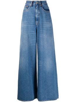 Mm6 Maison Margiela джинсы широкого кроя с эффектом потертости S52LA0141S30460