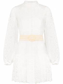 Zimmermann кружевное платье мини Super Eight 8325DEMP