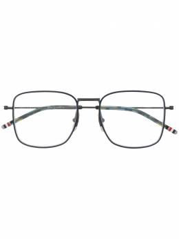 Thom Browne Eyewear очки в квадратной оправе с полосками RWB TBX117