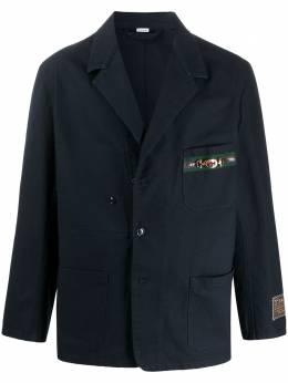 Gucci пиджак оверсайз с нашивками 611792XDA3Y