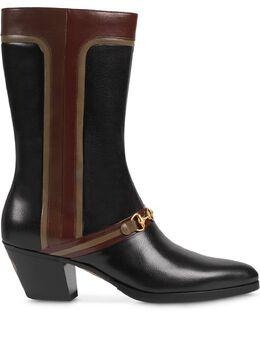 Gucci сапоги с декором Interlocking G Horsebit 6143261D070