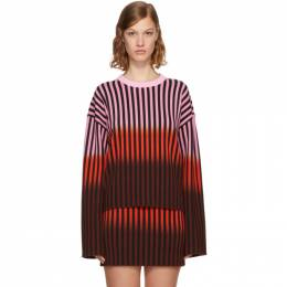 Opening Ceremony Multicolor Dip Dye Striped Sweater F17KAS12107