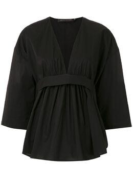 Andrea Marques приталенная блузка BLUSADECOTEVFAIXA