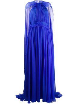 Zuhair Murad вечернее платье с кейпом DRS20371CHSI003
