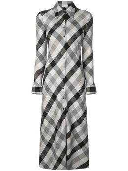 Rosetta Getty платье-рубашка в клетку 14195F9508