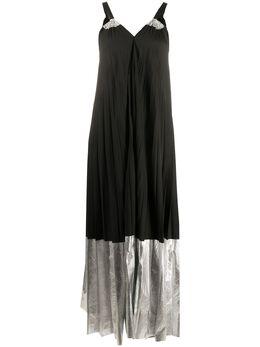 Nude двухцветное плиссированное платье 1103706