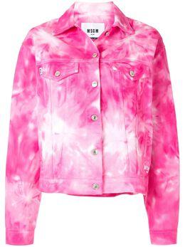 MSGM джинсовая куртка с принтом тай-дай 2842MDH145T207493