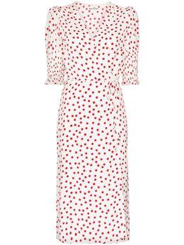 Reformation платье Esmerelda с запахом и узором в горох 1305858BGO