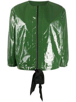 Sara Lanzi виниловая куртка без воротника SLSS2002CCO2