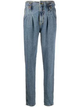 Retrofete зауженные джинсы со складками на талии SS202581