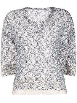 Comme Des Garcons Comme Des Garcons кружевная блузка с цветочным узором REB027