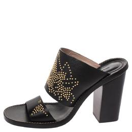 Chloe Black Studded Leather Slide Sandals Size 38.5 290938