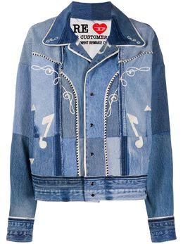 Diesel Red Tag джинсовая куртка в технике пэчворк с вышивкой 00SKQ1