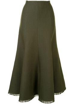 Gabriela Hearst юбка с необработанными краями 220304