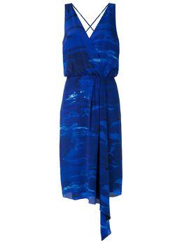 Andrea Marques платье с принтом и драпировкой VESTIDOCACHECOEURBABADOS