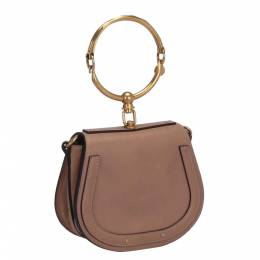 Chloe Pink Leather Small Nile Crossbody Bag 290243