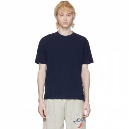 Noah Nyc Navy Recycled Cotton T-Shirt KN31SS20