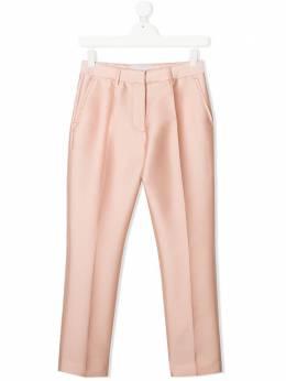 Stella McCartney Kids атласные брюки строгого кроя 588616SOKF1