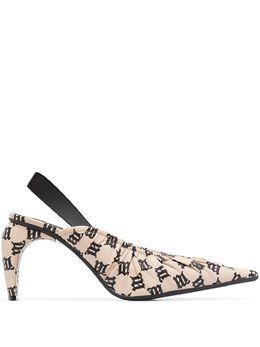 Misbhv туфли с ремешком на пятке и монограммой 020BW221