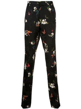 Amiri брюки со складками и цветочным принтом Y0M09166JA