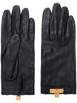 Hermes перчатки с металлическим декором HERMESGLOVES