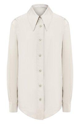 Рубашка из смеси хлопка и шелка Low Classic L0W20SS_SH09MT