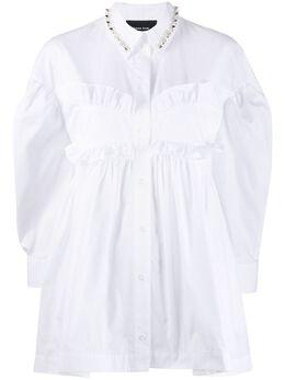 Simone Rocha расклешенная рубашка с оборками 3579B0109