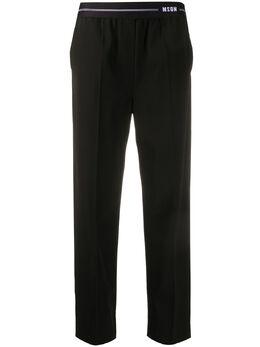 MSGM брюки прямого кроя с эластичным поясом 2842MDP104207309