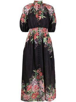 Zimmermann платье с цветочным принтом 8207DBTD