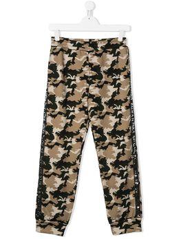 Balmain Kids спортивные брюки с камуфляжным узором 6M6627ME430