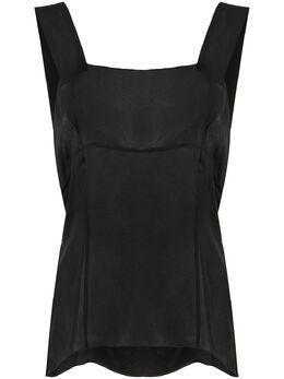Chanel Pre-Owned прозрачная блузка без рукавов MZ1914026