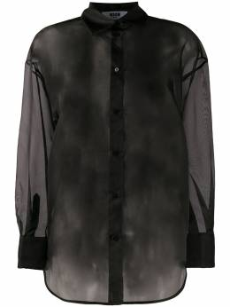 MSGM полупрозрачная рубашка 2842MDE116207303