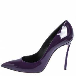 Casadei Purple Patent Leather Pointed Toe Pumps Size 40.5 291409