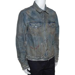 John Elliott Blue Rustic Distressed Denim Terrain Jacket XL 291670