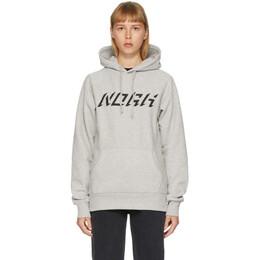 Noah Nyc Grey Logo Raglan Hoodie SS16SS20HGY