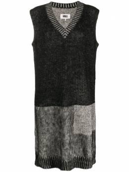 Mm6 Maison Margiela трикотажное платье в стиле колор-блок S52CT0543S17379