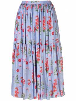 Carolina Herrera юбка миди с цветочным принтом E2011N302FSD
