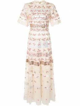 Needle & Thread платье с кружевной отделкой с пайетками DGSS23RSS20C