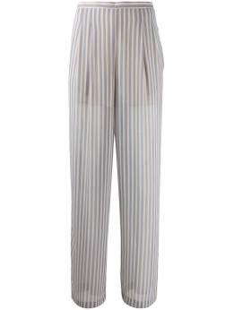 Semicouture брюки в полоску с завышенной талией Y0SS25TROPIC