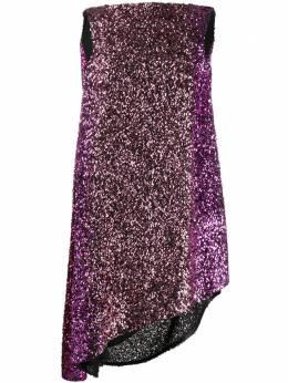 Halpern коктейльное платье с воротником-хомут A19D091COWLBACK