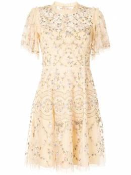 Needle & Thread короткое кружевное платье DMTQ54RSS20P