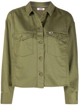 Tommy Jeans куртка-рубашка с карманами DW0DW07656
