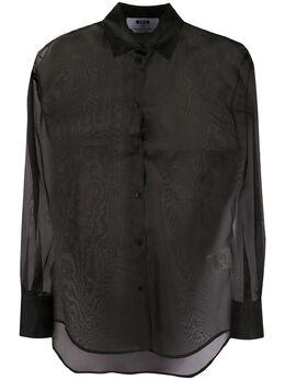 MSGM рубашка из органзы с длинными рукавами 2842MDE116207303